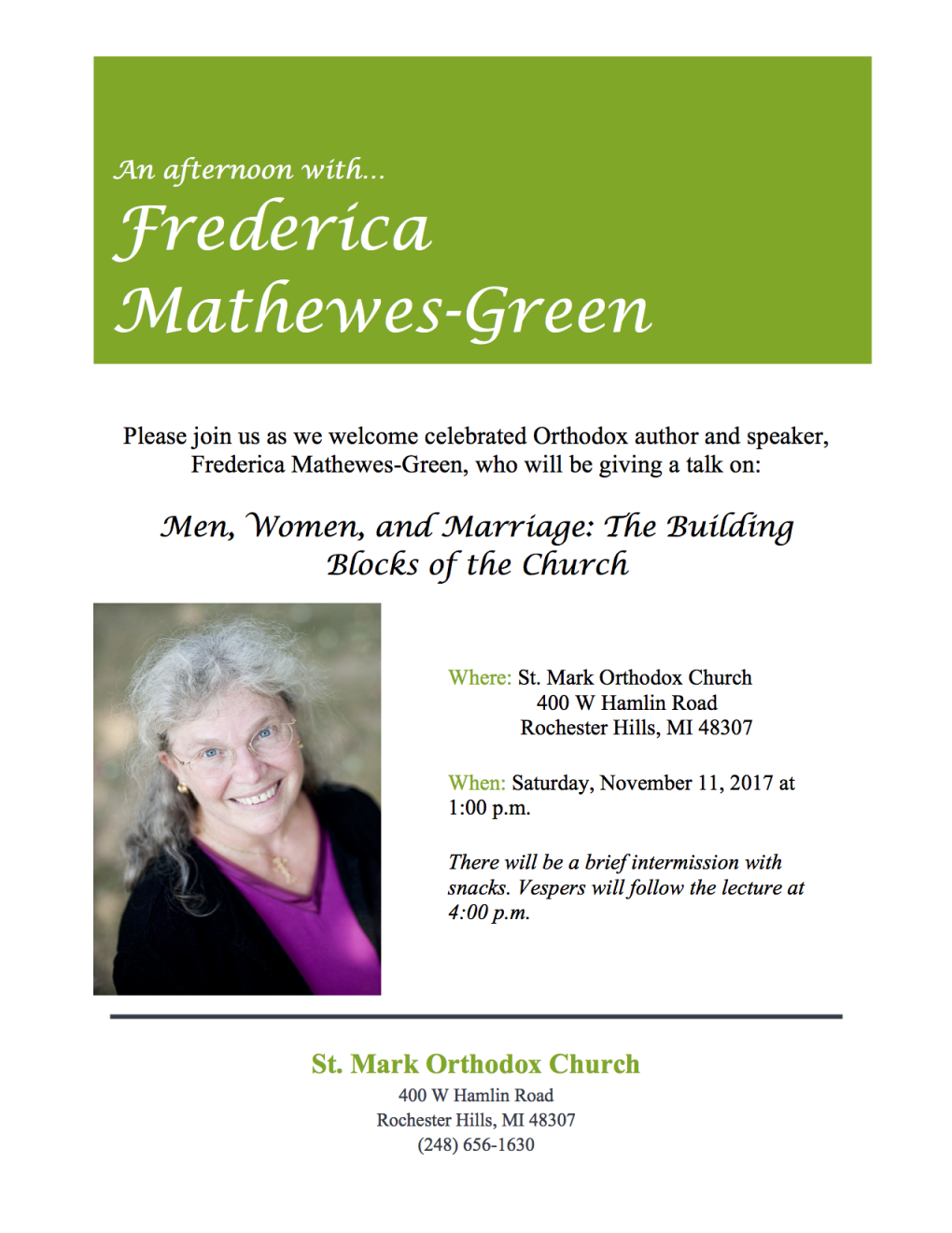 Frederica Mathews-Green